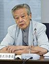 意見を述べる清水勉委員=3日、東京・東新橋の共同通信社