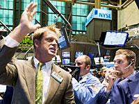 暴落するNY株式市場