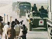 イラク入りする陸自の車列