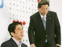安倍首相と中川幹事長