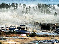 押し寄せる大津波