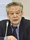 意見を述べる後藤正治委員=12日、東京・東新橋の共同通信社
