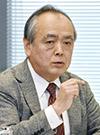 意見を述べる清水勉委員=12日、東京・東新橋の共同通信社