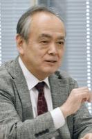 意見を述べる清水勉委員=10日、東京・東新橋の共同通信社