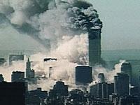 崩壊する高層ビル